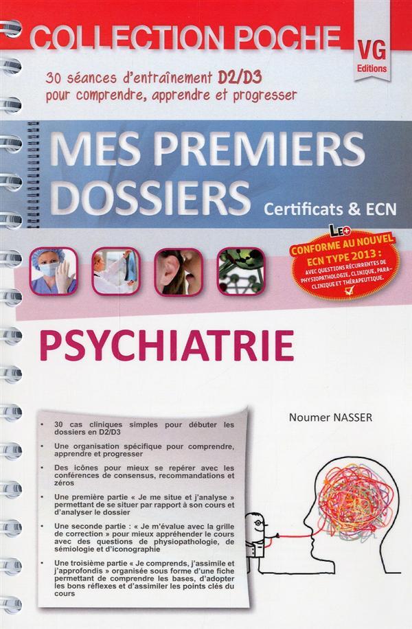 MES PREMIERS DOSSIERS DE POCHE PSYCHIATRIE