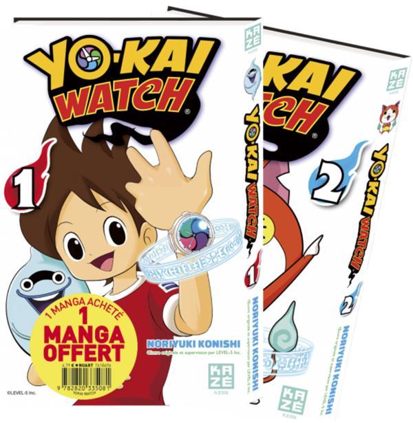 YO-KAI WATCH - PACK DDECOUVERTE T01 & T02