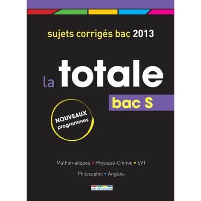 BAC S TOTALE 2013