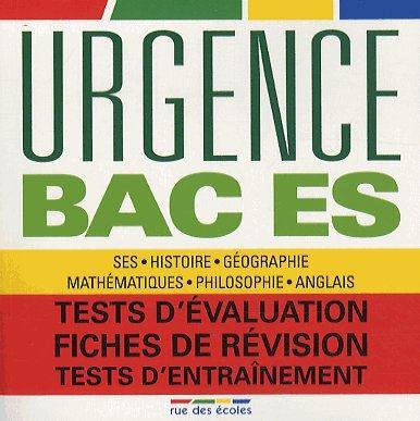 URGENCE BAC ES 2013