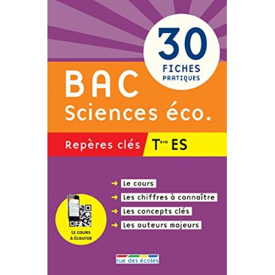 BAC SCIENCES ECO TERMINALES ES REPERES CLES