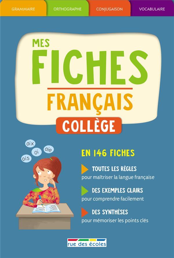BOITE MES FICHES FRANCAIS COLLEGE