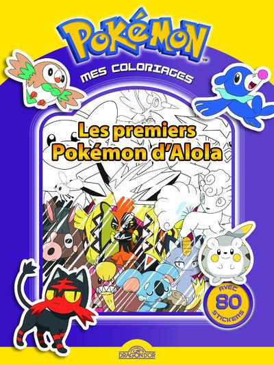 MES COLORIAGES POKEMON - LES PREMIERS POKEMON D'ALOLA