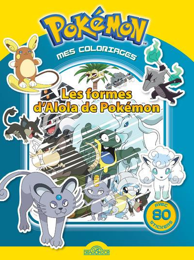 MES COLORIAGES POKEMON - LES FORMES D'ALOLA DE POKEMON