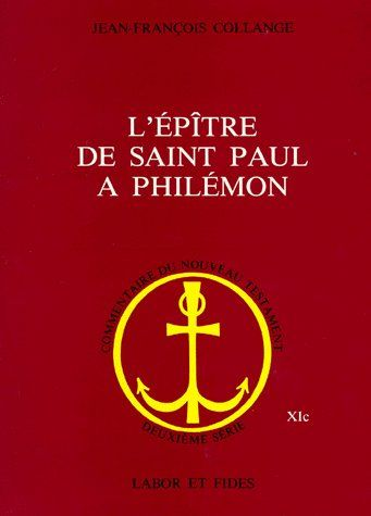 L'EPITRE DE SAINT PAUL A PHILEMON