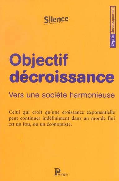 OBJECTIF DECROISSANCE