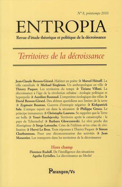 ENTROPIA N8 TERRITOIRES DE LA DECROISSANCE