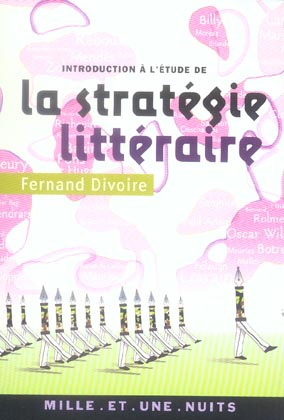 INTRODUCTION A L'ETUDE DE LA STRATEGIE LITTERAIRE