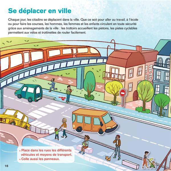 ZOOM SUR LA VILLE - DES GOMMETTES A L'INTERIEUR !
