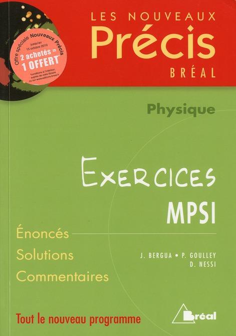 NOUVEAUX PRECIS EXERCICES PHYSIQUE MPSI