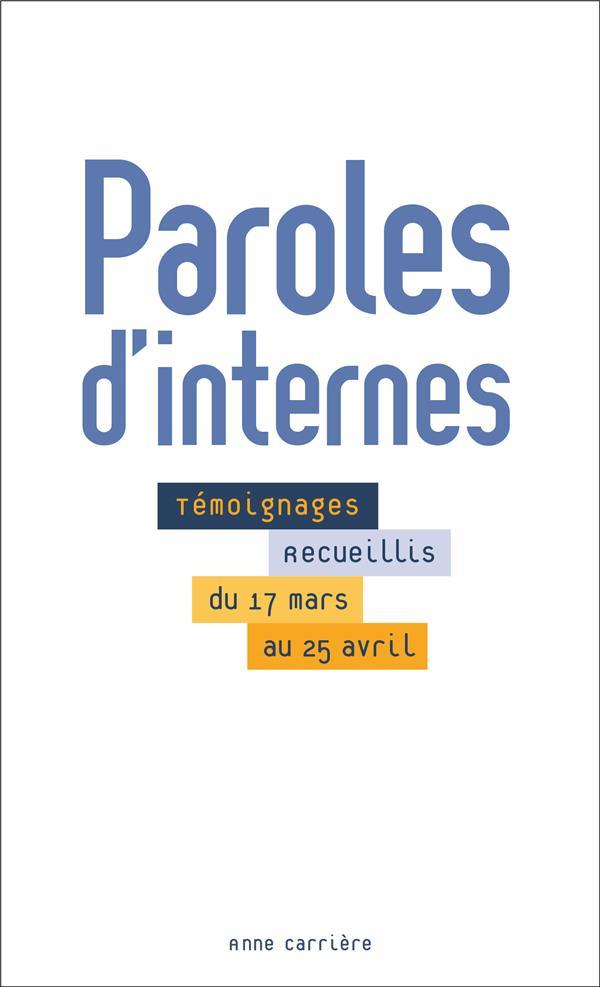 PAROLES D'INTERNES