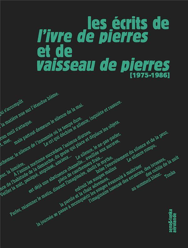 LES ECRITS DE L'IVRE DE PIERRES ET DE VAISSEAU DE PIERRES