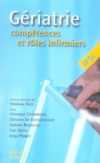 IFSI GERIATRIE COMPETENCES ET ROLES INFIRMIERS