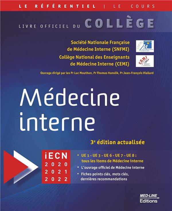 COLLEGE NATIONAL DE MEDECINE INTERNE 3E ED 2019