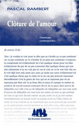 CLOTURE DE L'AMOUR