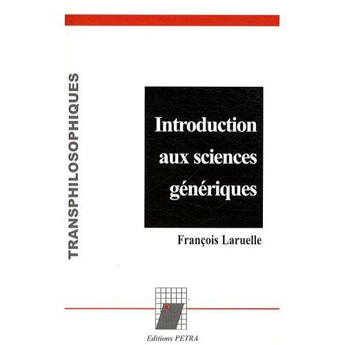 INTRODUCTION AUX SCIENCES GENERIQUES