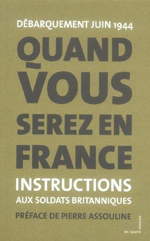 QUAND VOUS SEREZ EN FRANCE