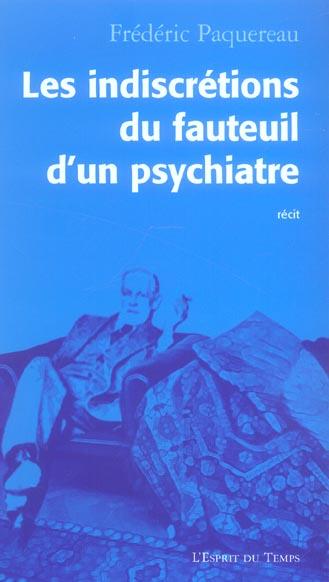 LES INDISCRETIONS FAUTEUIL D'UN PSYCHANALYSTE