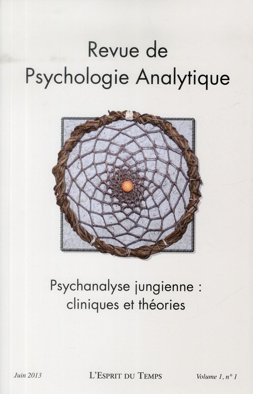 REVUE DE PSYCHOLOGIE ANALYTIQUE N 1