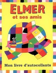 ELMER ET SES AMIS - JAUNE AUTOCOLLANTS