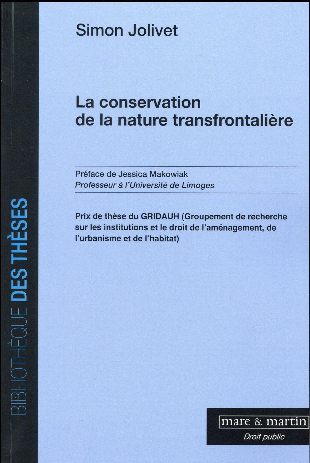 LA CONSERVATION DE LA NATURE TRANSFRONTALIERE