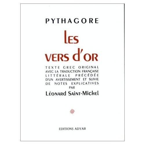 VERS D'OR - PYTHAGORE