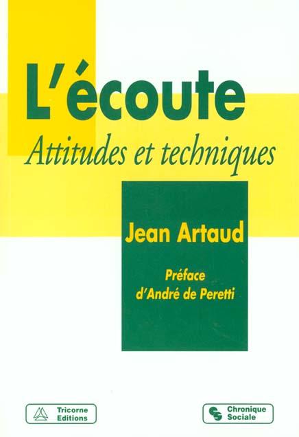 L ECOUTE ATTITUDES ET TECHNIQUES 4EME EDITION