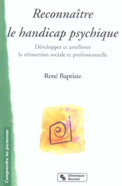 RECONNAITRE LE HANDICAP PSYCHIQUE