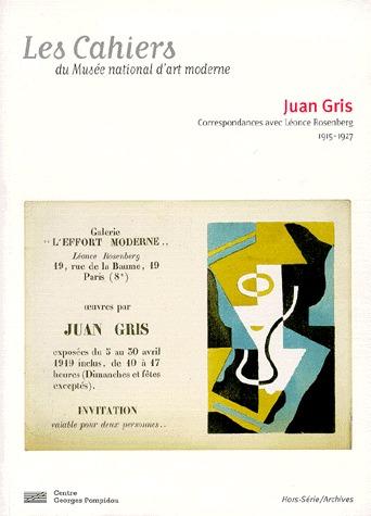 CAHIERS DU MUSEE NATIONAL D'ART MODERNE - JUAN GRIS (LES)