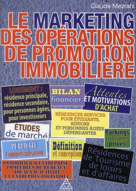 LE MARKETING DES OPERATIONS DE PROMOTION IMMOBILIERE