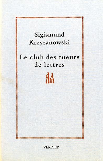 LE CLUB DES TUEURS DE LETTRES ROMAN