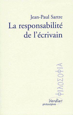 LA RESPONSABILITE DE L'ECRIVAIN