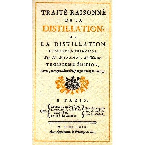 TRAITE RAISONNE DE DISTILLATION