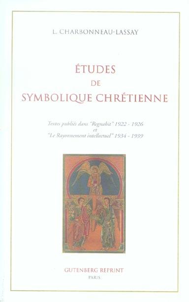 ETUDES DE SYMBOLIQUE CHRETIENNE