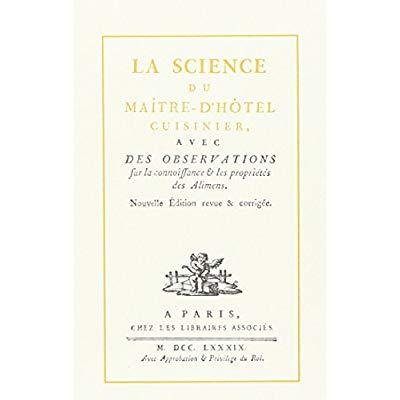 SCIENCE DU MAITRE D'HOTEL CUISINIER (LA)