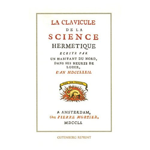 LA CLAVICULE DE LA SCIENCE HERMETIQUE