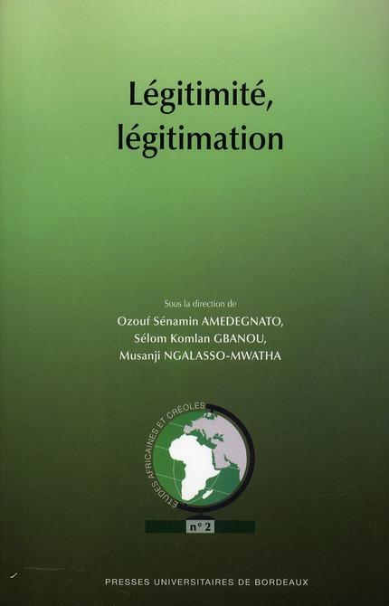 LEGITIMITE LEGITIMATION