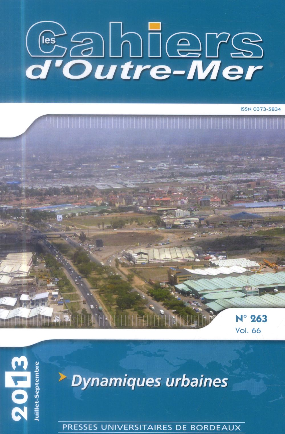 CAHIER D OUTRE MER N263  DYNAMIQUES URBAINES