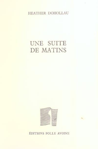 UNE SUITE DE MATINS