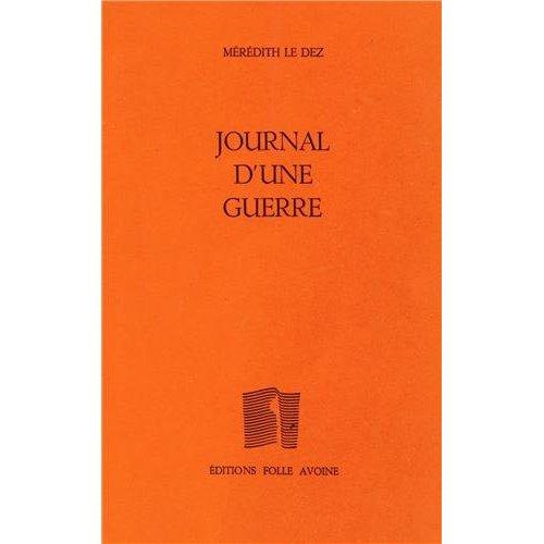 JOURNAL D'UNE GUERRE