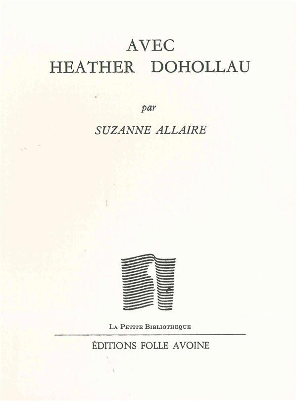 AVEC HEATHER DOHOLLAU