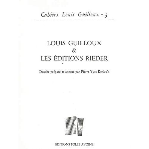 CAHIER GUILLOUX N 3