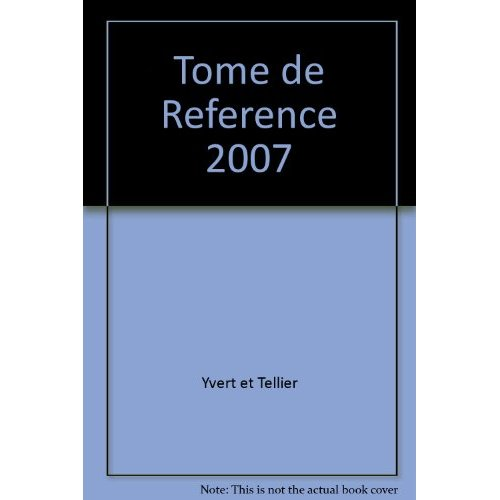 TOME DE REFERENCE 2007