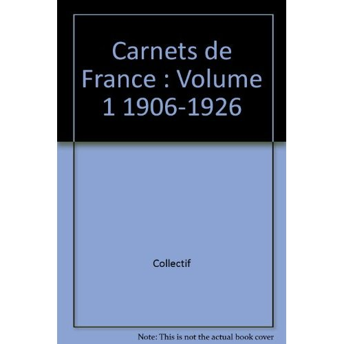 SPECIALISE CARNETS VOL.1 1906 A 1926
