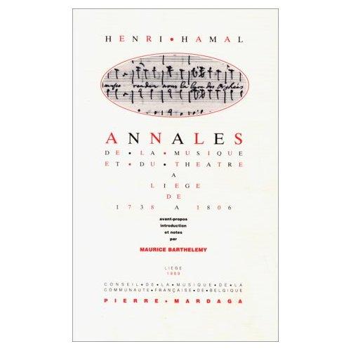 HAMAL - ANNALES DU THEATRE ET DE LA MUSIQUE