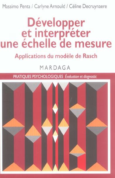 Développer et interpréter une échelle de mesure, Applications du modèle de Rasch