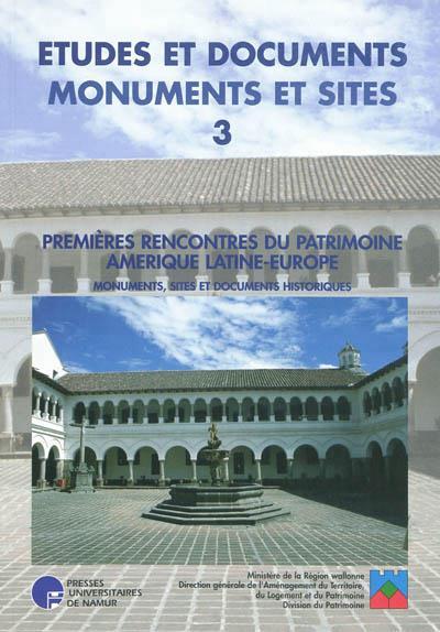 PREMIERES RENCONTRES DU PATRIMOINE AMERIQUE LATINE-EUROPE