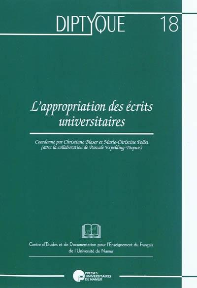 L'APPROPRIATION DES ECRITS UNIVERSITAIRES