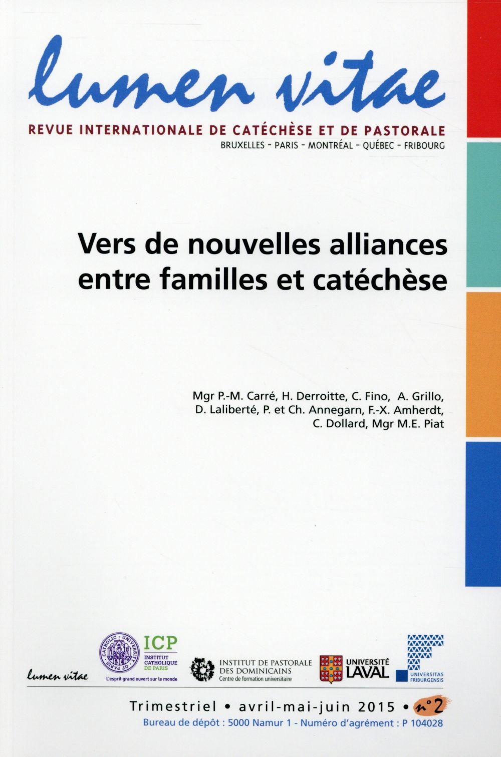 VERS DE NOUVELLES ALLIANCES ENTRE FAMILLES ETCATECHESE