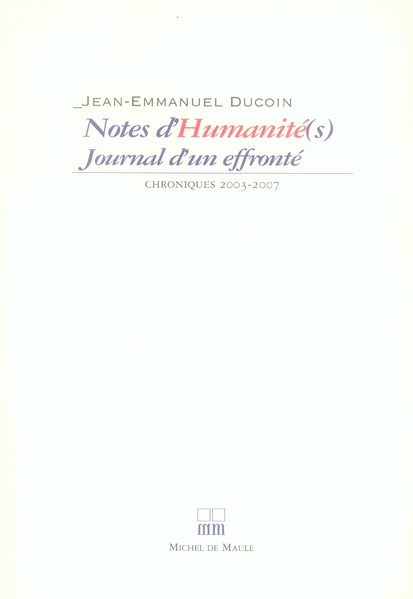 NOTES D'HUMANITE(S)